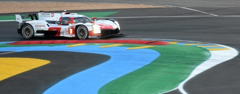 Kobayashi on his way to taking pole for the 89th Le Mans