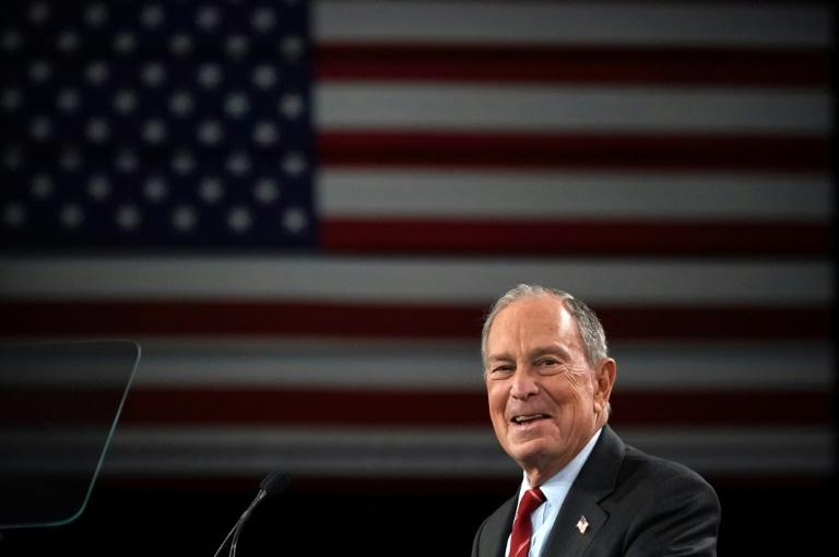 Billionaire Mike Bloomberg sent out a series of bizarre tweets (AFP Photo/TIMOTHY A. CLARY)