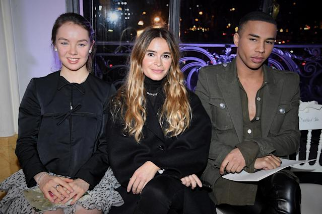 Princess Alexandra of Hanover, Miroslava Duma and Olivier Rousteing attend the Giambattista Valli show in January 2018 in Paris, France. [Photo: Getty]