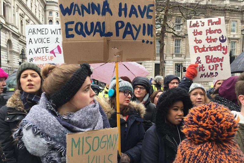 Women in London came together to march one year after demonstrations in response to Donald Trump's inauguration: Chris Wallace