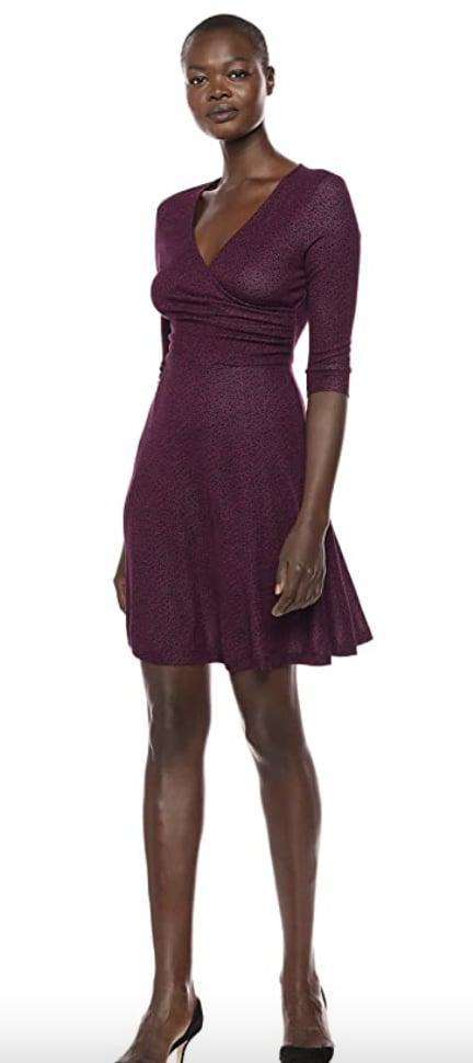 <p>Style this <span>Lark &amp; Ro Wrap Dress</span> ($17 and up) with slingback heels for an elegant evening look.</p>