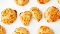 """""""I've got Sarah Jampel's <a href=""""https://www.bonappetit.com/recipe/jalapeno-popper-gougeres?mbid=synd_yahoo_rss"""" rel=""""nofollow noopener"""" target=""""_blank"""" data-ylk=""""slk:Jalapeño Popper Gougères"""" class=""""link rapid-noclick-resp"""">Jalapeño Popper Gougères</a> on my mind. I admire the bar food-meets-French-accent feeling about them. Like wearing cowboy boots to Le Bernardin, a fantasy of mine. I plan on air frying them for extra pop (no idea if that's what'll happen or if they'll explode). Serving with <a href=""""https://www.bonappetit.com/recipe/bas-best-pina-colada?mbid=synd_yahoo_rss"""" rel=""""nofollow noopener"""" target=""""_blank"""" data-ylk=""""slk:piña coladas"""" class=""""link rapid-noclick-resp"""">piña coladas</a>, le duh!"""" <em>—Alex Beggs, senior staff writer</em> <a href=""""https://www.bonappetit.com/recipe/jalapeno-popper-gougeres?mbid=synd_yahoo_rss"""" rel=""""nofollow noopener"""" target=""""_blank"""" data-ylk=""""slk:See recipe."""" class=""""link rapid-noclick-resp"""">See recipe.</a>"""