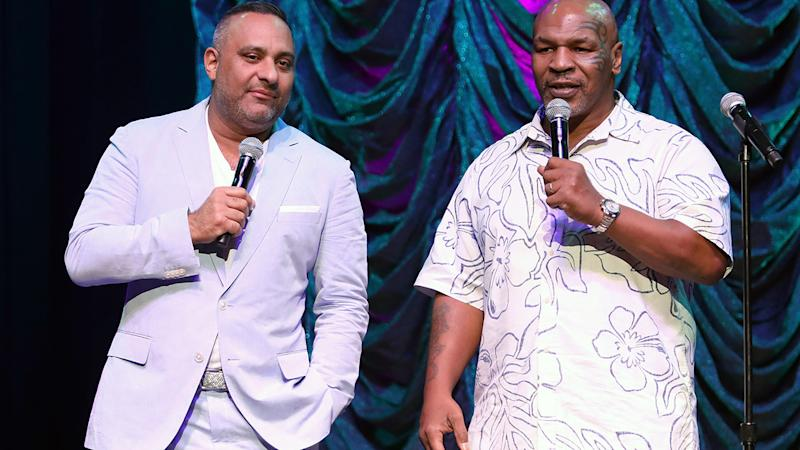 Mike Tyson, pictured here looking a lot heavier in 2018.