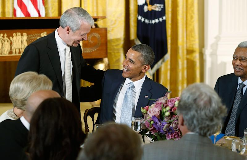 New evangelical group seeks to distance christians from trump president obama greets joel hunter senior pastor of northland church in longwood fla m4hsunfo