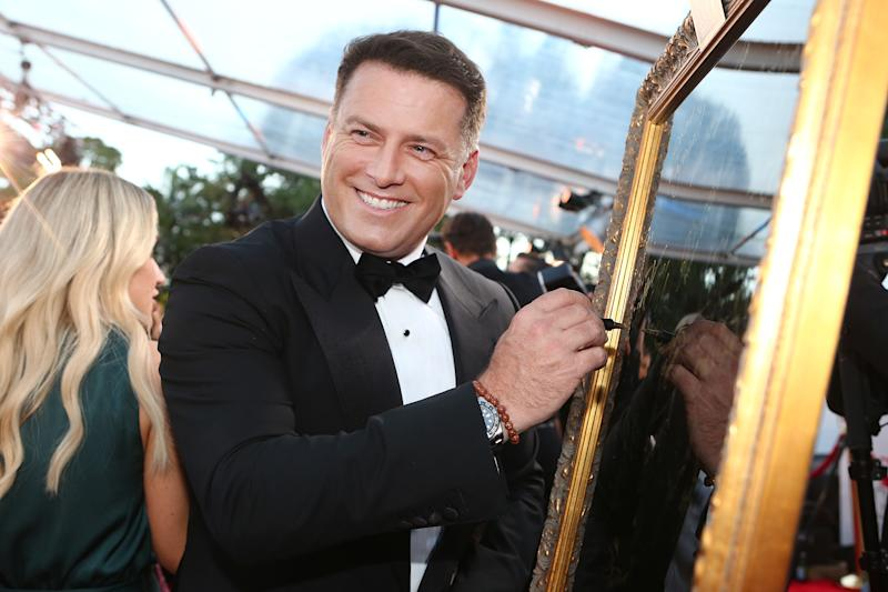 A photo of Karl Stefanovic on the red carpet at the 61st Annual TV WEEK Logie Awards at The Star Gold Coast on June 30, 2019 on the Gold Coast, Australia.
