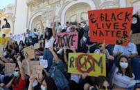 """Tunis saw a rare Black Lives Mattter protest in North Africa in early June. The rally was 'a message for African Americans from Mother Africa to say 'We are with you',"""" said its leader, Saadia Mosbah"""