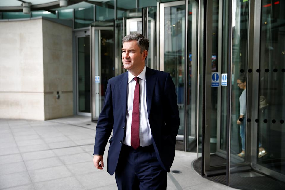 Britain's Secretary of State for Justice David Gauke leaves the BBC headquarters after appearing on the Andrew Marr show in London, Britain July 7, 2019. REUTERS/Henry Nicholls
