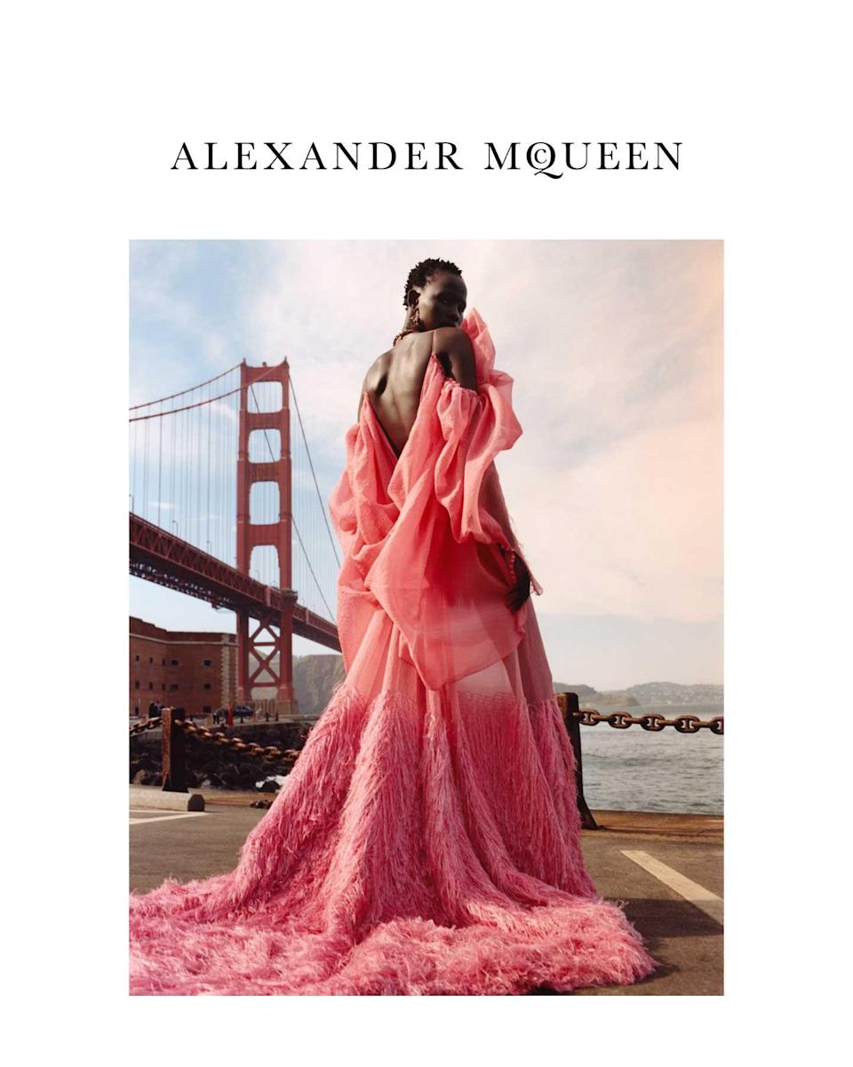 <p><strong>Model:</strong> Shanelle Nyasiase<br><strong>Photographer:</strong> Jamie Hawkesworth<br>(Photo: Courtesy of Alexander McQueen) </p>