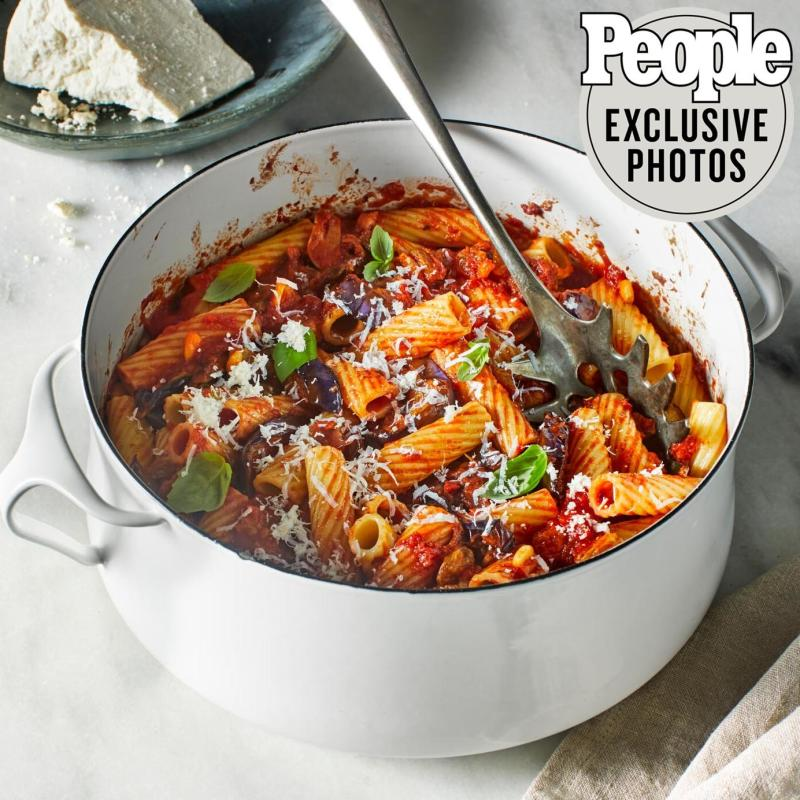 Ashley Eddie's Rigatoni with Tomato & Eggplant