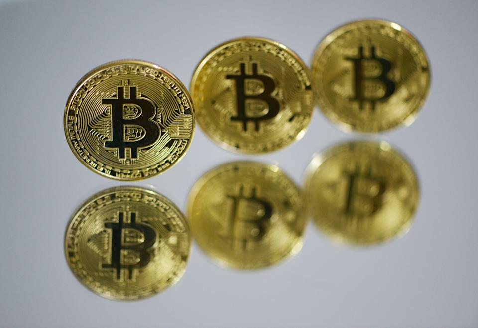 FUYANG, CHINA - MARCH 13, 2021 - A view of bitcoin, Fuyang City, Anhui Province, March 13, 2021.PHOTOGRAPH BY Costfoto / Barcroft Studios / Future Publishing (Photo credit should read Costfoto/Barcroft Media via Getty Images)
