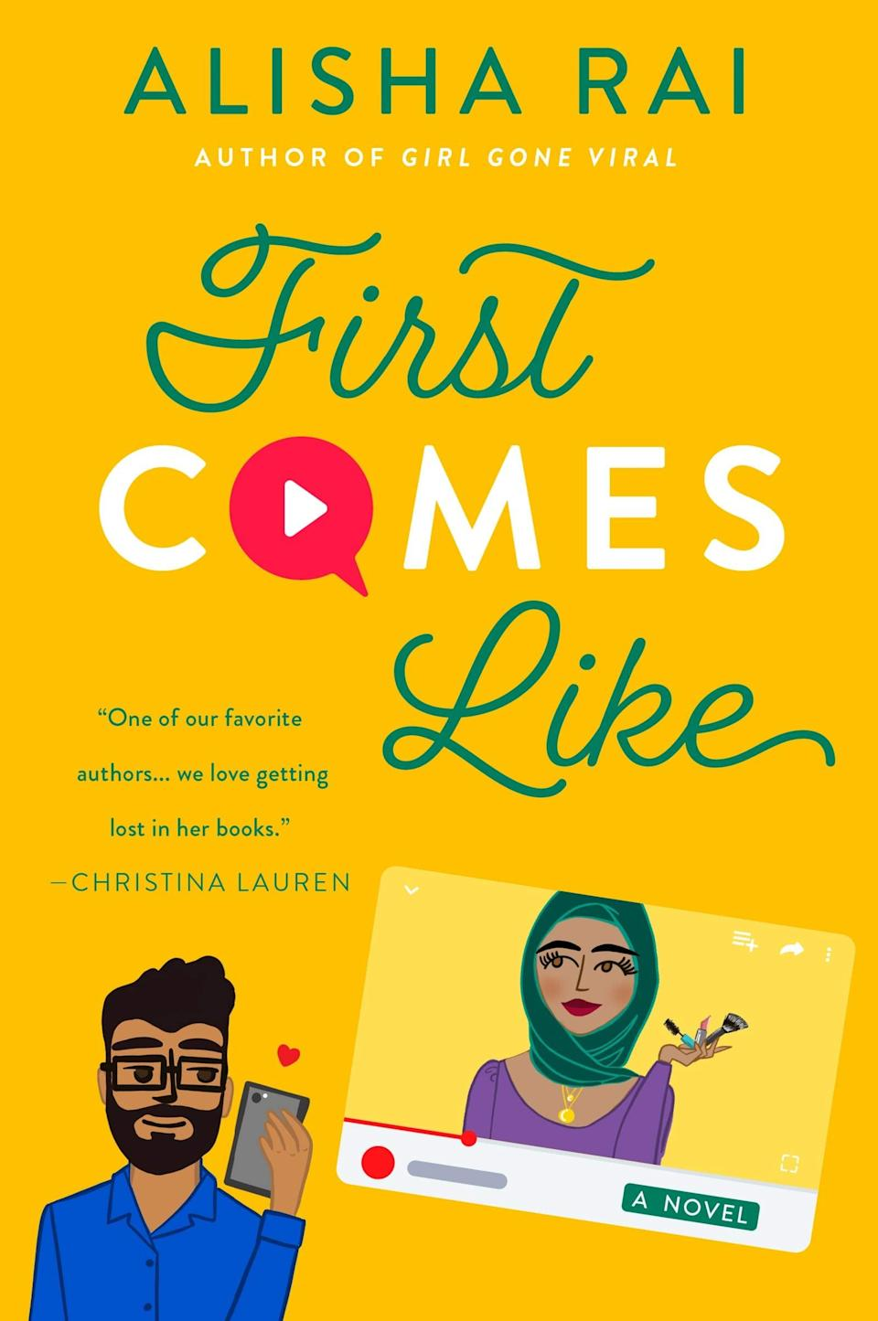 <p><span><strong>First Comes Like</strong></span> by Alisha Rai is the third book in the author's <strong>Modern Love</strong> series, which tackles dating in the age of the internet. This time around, Rai zeroes in on beauty influencer Jia Ahmed, who gets catfished by someone impersonating soap star Dev Dixit. When Dev realizes what's happening, he and Jia decide to fake date to save face, but it doesn't take long for their faux romance to begin to feel all too real. </p> <p><em>Out Feb. 16</em></p>