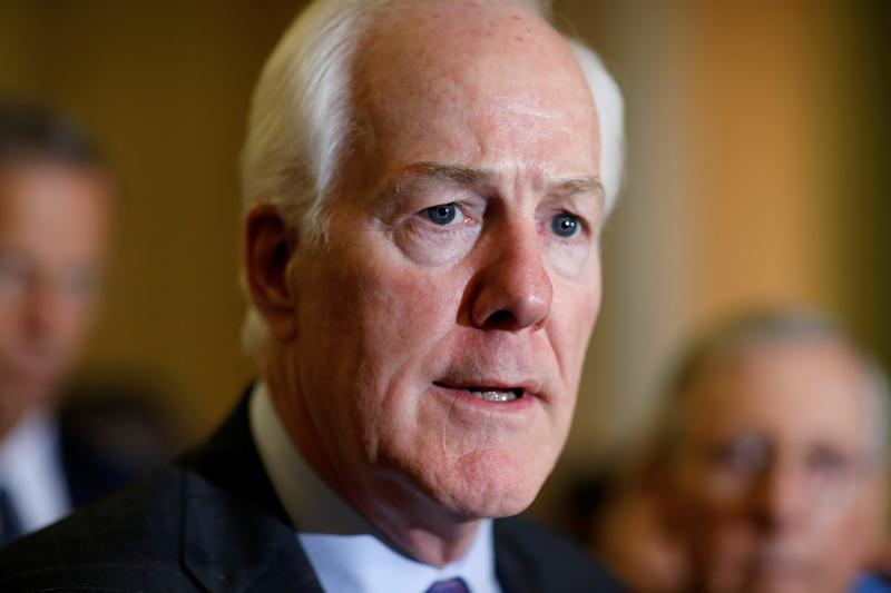 Sen. John Cornyn (R-Texas) speaks during a press conference on Capitol Hill, Sept. 12, 2017.