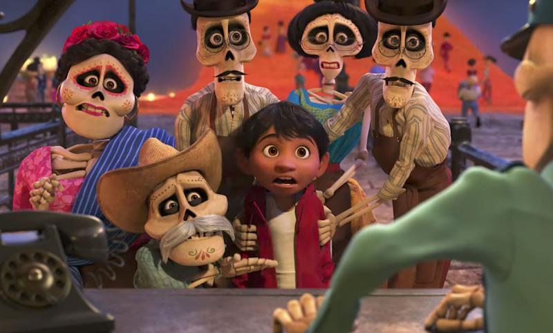 Miguel with his ancestors in the Land of the Dead (Disney Pixar)