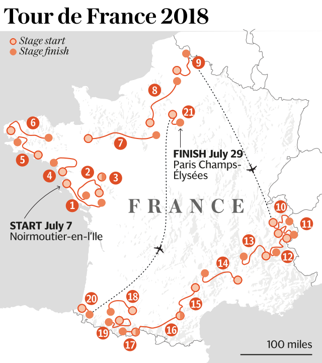 Tour de France 2018: When does the race start, how long is it, what does the full route map look like and what are the latest odds on Chris Froome?
