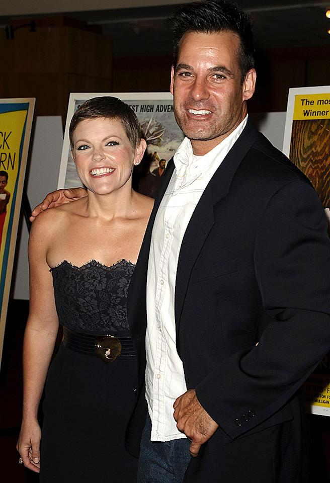 Natalie Maines of The Dixie Chicks and actor Adrian Pasdar attend the Gregory Peck commemorative stamp first day of issue ceremony at AMPAS Samuel Goldwyn Theater on April 28, 2011 in Beverly Hills, California.