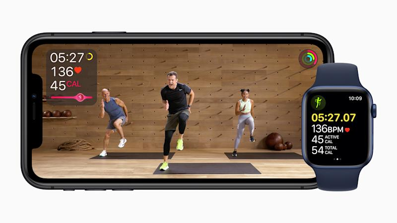 Apple on Tuesday announced it's launching its new Fitness+ service. And it's aiming directly at Peloton. (Image: Apple)