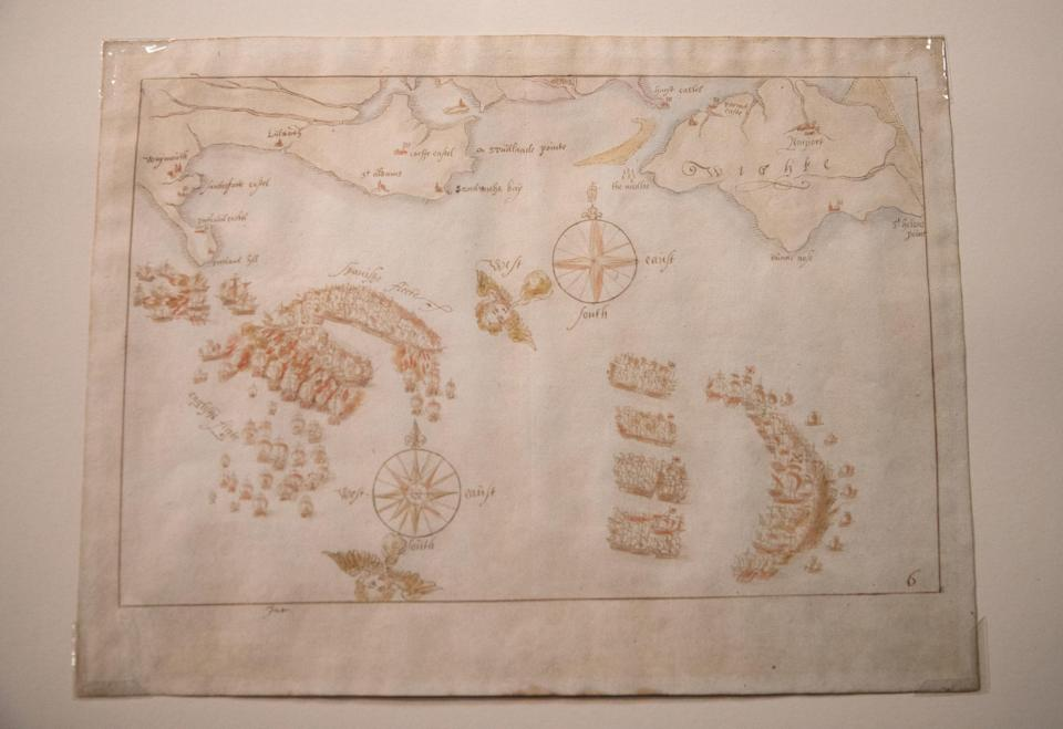 A general view of one of the 'Armada Maps' at Portsmouth Historic DockyardPA
