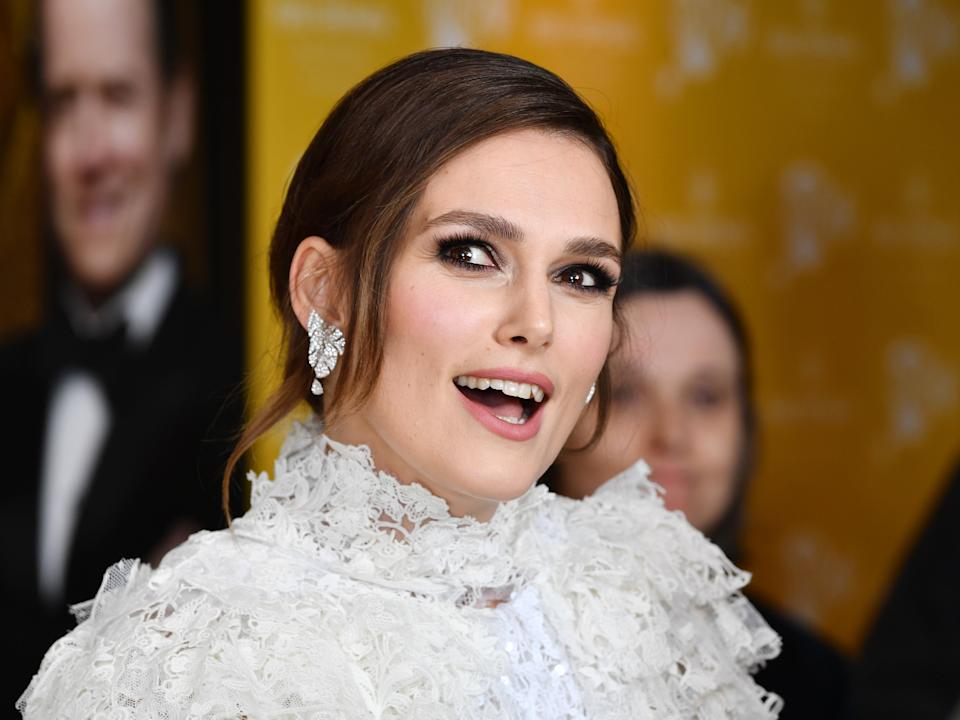 <p>Keira Knightley at the world premiere of Misbehaviour in March 2020</p> (Gareth Cattermole/Getty Images)
