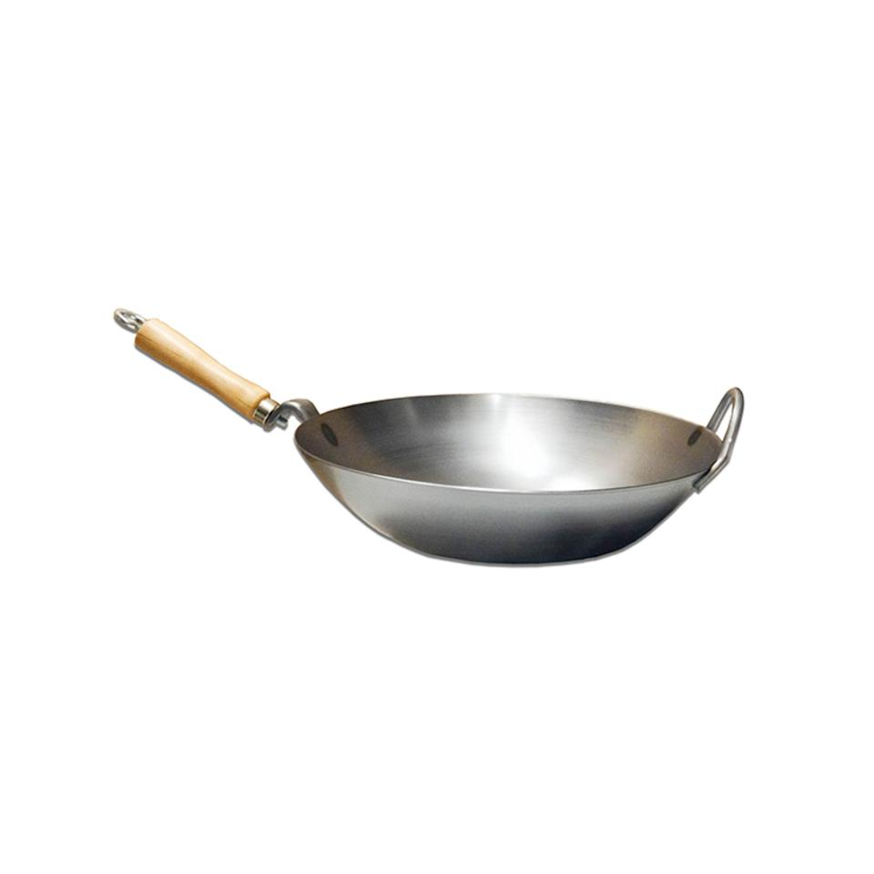 """<p>wokshop.com</p><p><strong>$39.95</strong></p><p><a href=""""https://www.wokshop.com/newstore/product/carbon-steel-wok-with-metal-side-handle/"""" rel=""""nofollow noopener"""" target=""""_blank"""" data-ylk=""""slk:SHOP NOW"""" class=""""link rapid-noclick-resp"""">SHOP NOW</a></p><p>Based in San Francisco's Chinatown, The Wok Shop is family-owned and specializes in hard-to-find Asian cooking tools. There's a huge selection of woks, rice cookers, pans, pickling jars, knives, and sushi-making tools.</p>"""