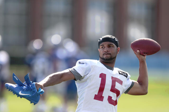 Giants WR Golden Tate is appealing his 4-game league suspension. (Vincent Carchietta-USA TODAY Sports)