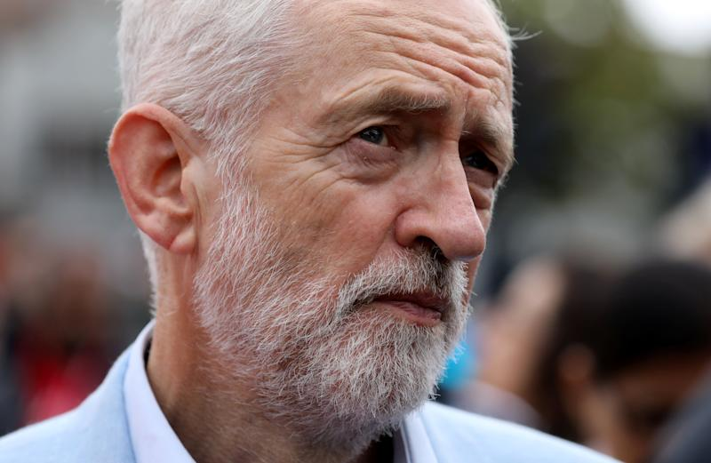 Labour Party leader Jeremy Corbyn urged caution over a possible referendum on any deal secured by Mr Johnson (Picture: Reuters)