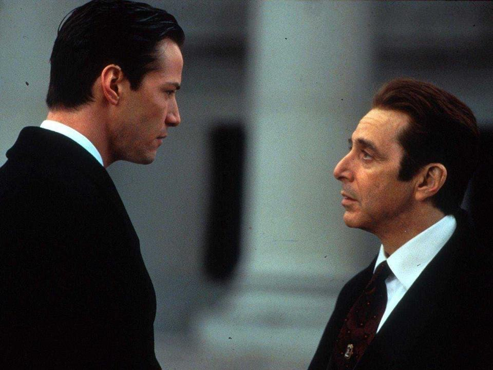 "(L-R) Keanu Reeves and Al Pacino in ""The Devil's Advocate."""
