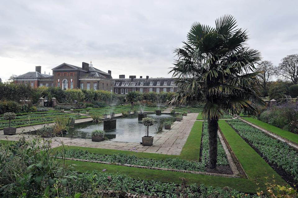The Sunken Garden of Kensington Palace was reportedly chosen because it was one of Diana's favourite places at her home (PA)