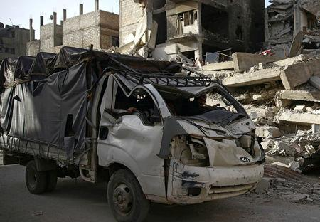 United Nations begins aid delivery to rebel-held suburbs of Damascus