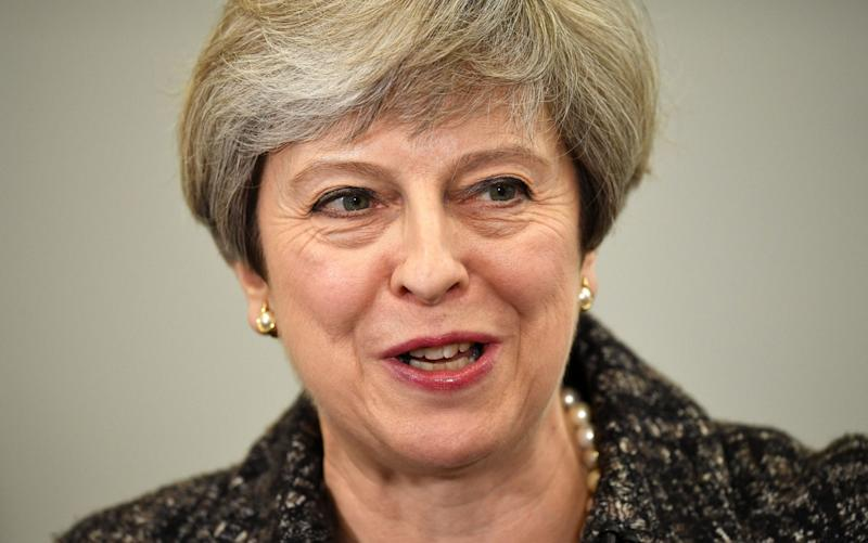 Theresa May is attempting to pick up Labour votes - Getty Images Europe