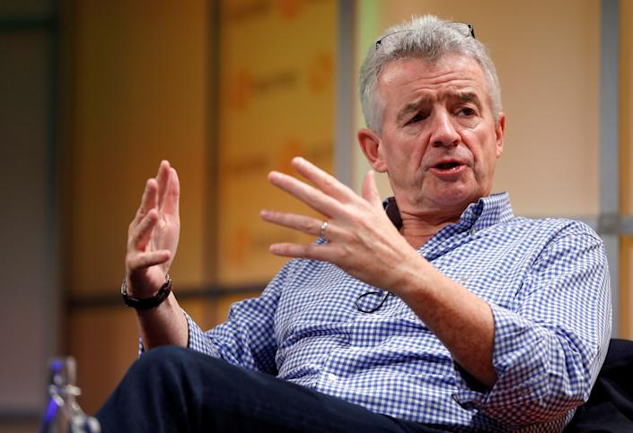 Last month, Ryanair chief Michael O'Leary, above, said he was confident that travel will open up in the summer. Photo: Reuters