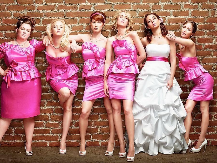 <p><strong><em>Bridesmaids</em></strong></p><p>This raunchy comedy from 2011 is FILLED with a powerhouse cast of amazing women. Set in Milwaukee, it follows the journey of an out of work pastry chef trying to get along with her best friend's host of bridesmaids. (As if you don't already know!!!)</p>
