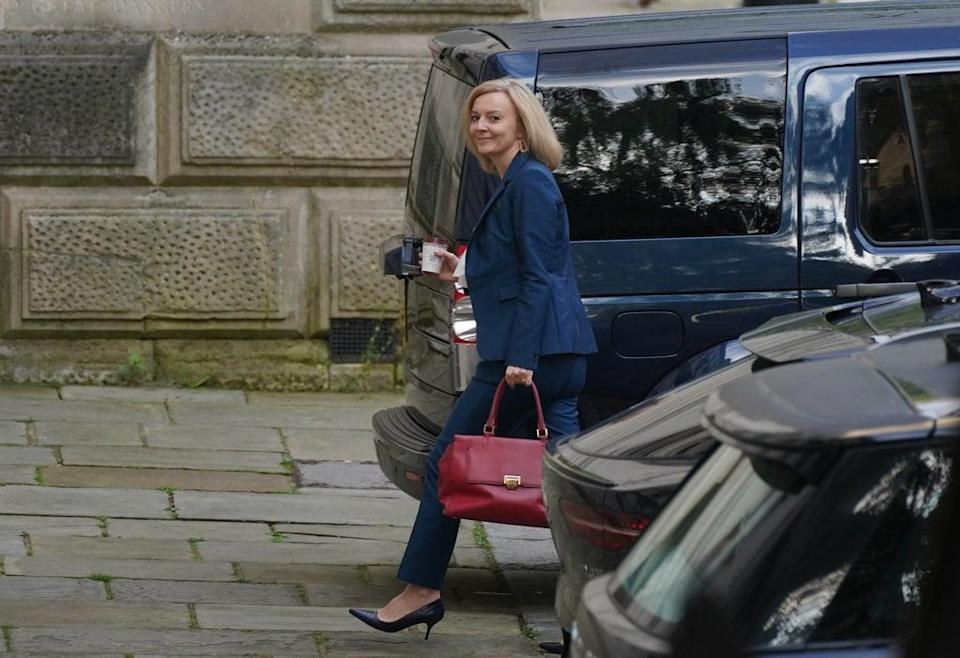 Liz Truss, the new Foreign Secretary, arrives at the Foreign Office (Stefan Rousseau/PA) (PA Wire)