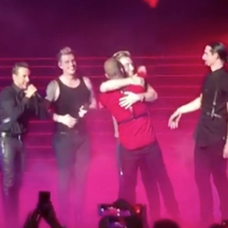Backstreet Boys Bring *NSYNC's Lance Bass on Stage During Their Vegas Show