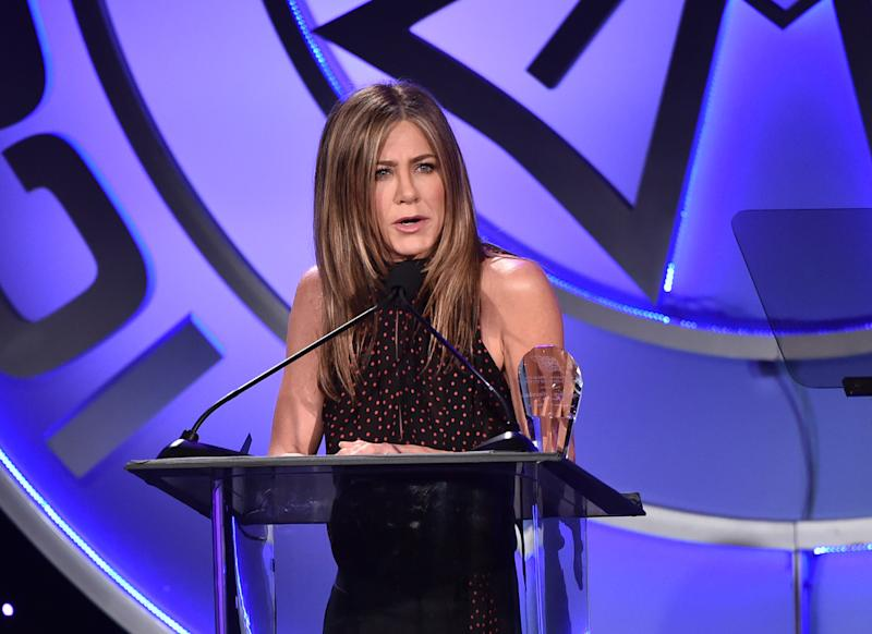 BEVERLY HILLS, CALIFORNIA - FEBRUARY 07: Jennifer Aniston attends the 57th Annual ICG Publicists Awards at The Beverly Hilton Hotel on February 07, 2020 in Beverly Hills, California. (Photo by Alberto E. Rodriguez/Getty Images)