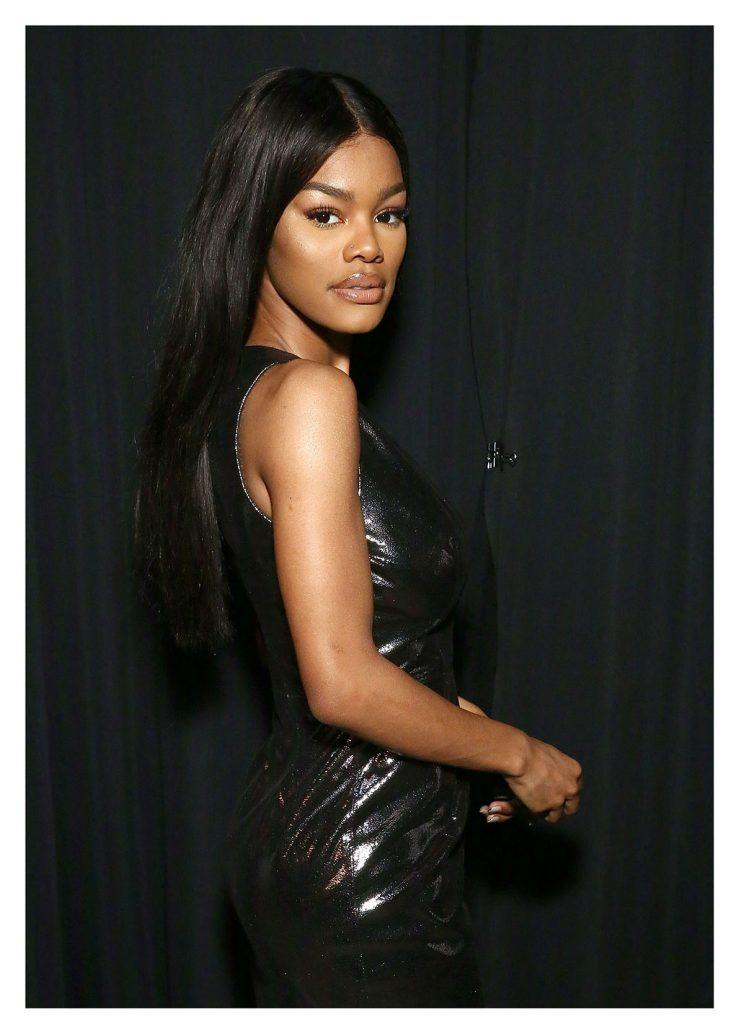 Teyana Taylor made a political statement through fashion at the White House on Thursday. (Photo: Getty Images)
