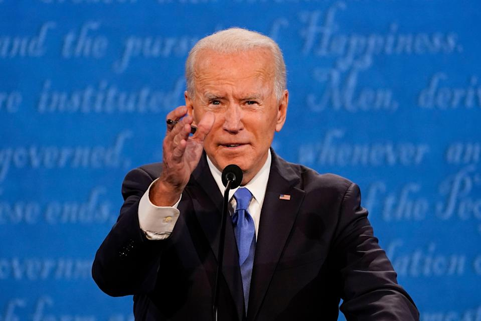 A Joe Biden verbal slip went viral online after the former vice president called the Proud Boys the 'Poor Boys' (AP)