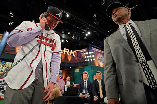 Less than a year after hearing his name called at the MLB draft, Carter Stewart is heading to Japan. (Getty Images)