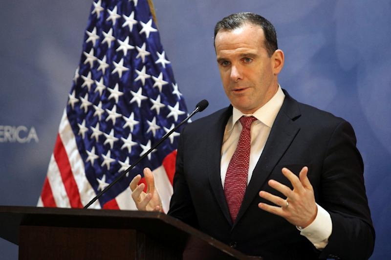 Brett McGurk reportedly said in his resignation letter that IS militants had not been defeated, and that pulling out US troops could result in the jihadists regaining strength (AFP Photo/AHMAD ABDO)