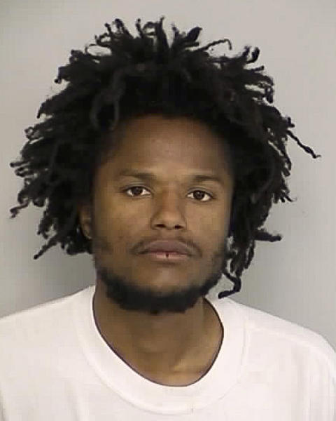 This booking photo released on Tuesday, April 1, 2014, by the North Las Vegas Police Department, shows suspect Darius Davon Sorrells, who has been in custody since a high-speed weekend traffic chase in North Las Vegas. Authorities said his 53-year-old mother and 33-year-old sister have been missing since last week. Police investigating a bloody double-slaying that left body parts inside a North Las Vegas home named a 30-year-old man as the suspect on Tuesday. (AP Photo/North Las Vegas Police Department)