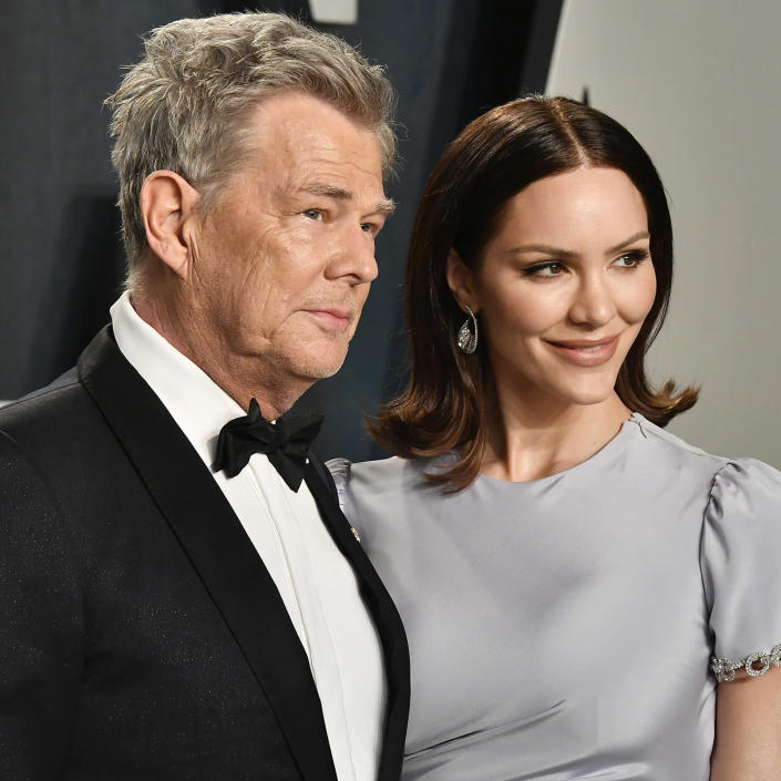 Katherine McPhee Foster and husband David Foster (Frazer Harrison / Getty Images)