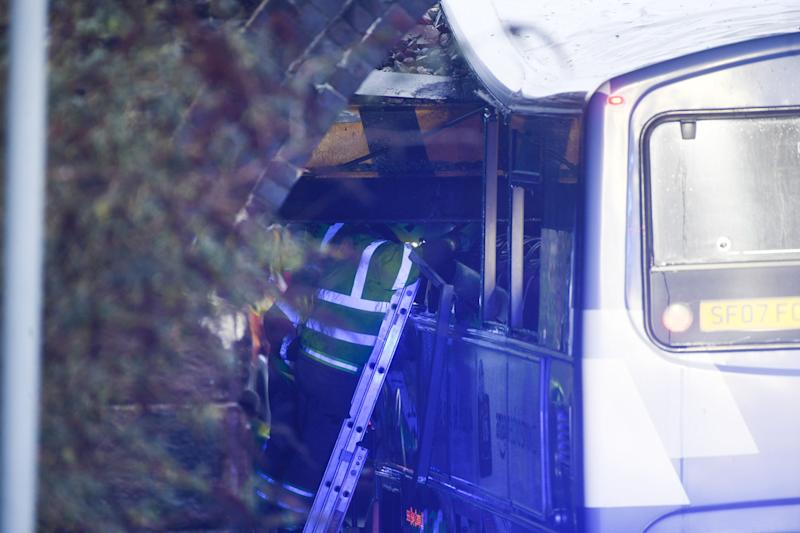 The crash happened on December 12, leaving eight people injured (Picture: Wales News Service)