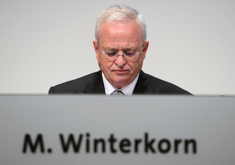VW chief executive Martin Winterkorn (pictured) resigned Wednesday over the scandal, which has sparked a US criminal investigation and international legal action with as-yet incalculable financial costs (AFP Photo/John MacDougall)
