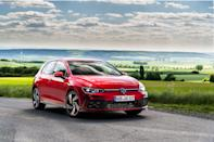 """<p>A new GTI is still a year away and VW isn't ready to let us drive it, so we call shotgun to get an early look at the eighth-generation of the iconic hot hatch.</p><p><a class=""""link rapid-noclick-resp"""" href=""""https://www.caranddriver.com/reviews/a33446179/2022-volkswagen-golf-gti-ride/"""" rel=""""nofollow noopener"""" target=""""_blank"""" data-ylk=""""slk:Read the full review"""">Read the full review</a></p>"""