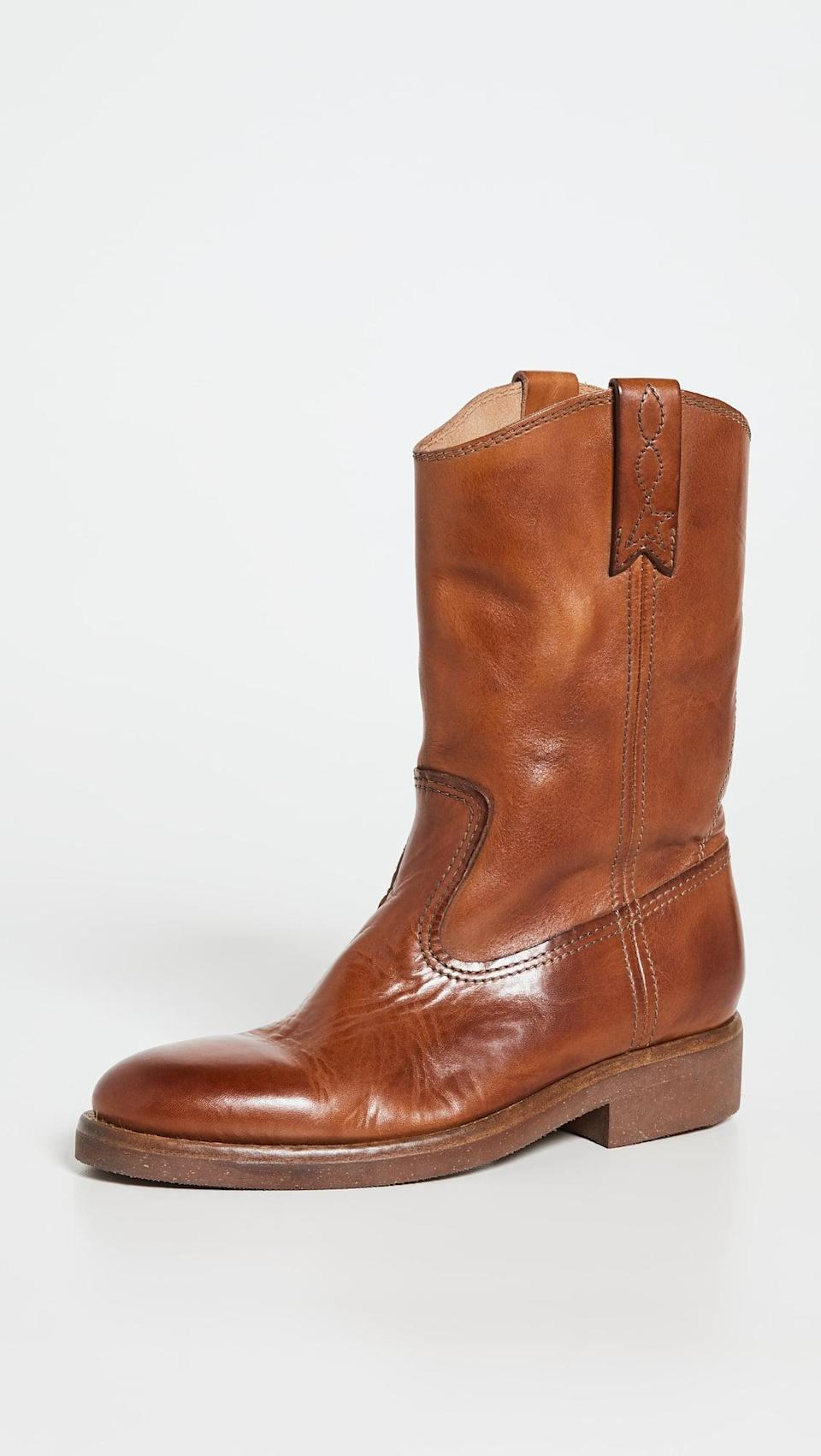 <p>A little bit western and a little bit tough, these <span>Golden Goose Biker Boots</span> ($750) are timeless and cool. Plus, the medium brown color is so gorgeous.</p>