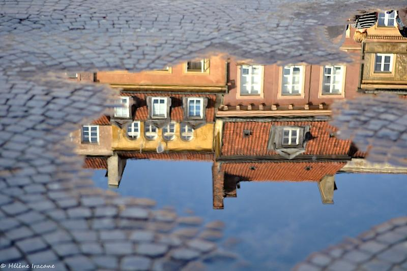 Warsaw Old Town reflection
