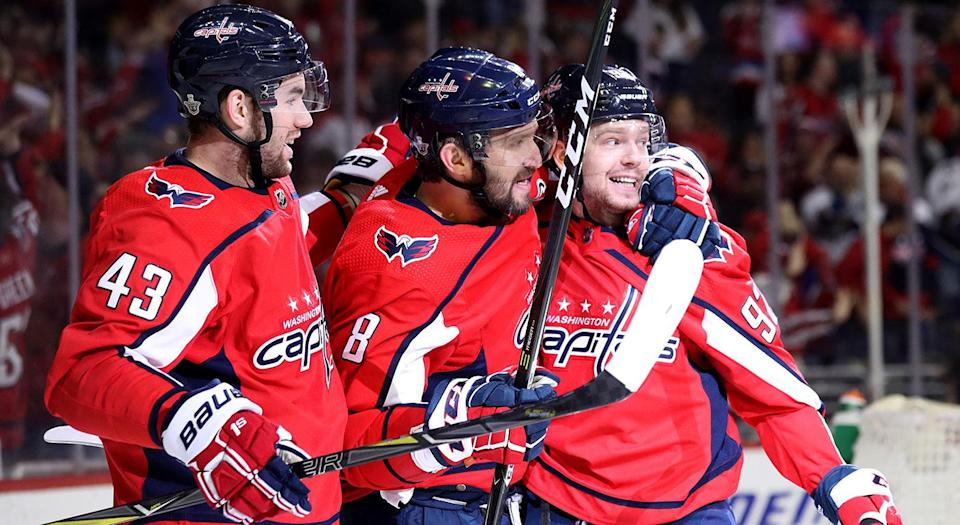 Tom Wilson isn't your typical first-liner, but he makes it work playing alongside two of the game's best. (Getty Images)