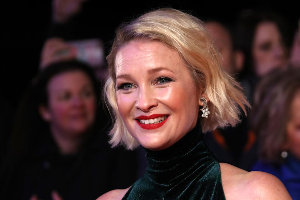 LONDON, ENGLAND - JANUARY 28: Joanna Page attends the National Television Awards 2020 at The O2 Arena on January 28, 2020 in London, England. (Photo by Mike Marsland/WireImage)