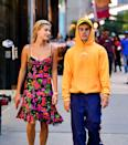 """<p>JB and HB's <a href=""""https://www.elle.com/culture/celebrities/g21991424/justin-bieber-hailey-baldwin-relationship-timeline/"""" rel=""""nofollow noopener"""" target=""""_blank"""" data-ylk=""""slk:relationship is extensive"""" class=""""link rapid-noclick-resp"""">relationship is extensive</a>. It dates all the way back to <a href=""""https://youtu.be/mZQV6b5UiDA"""" rel=""""nofollow noopener"""" target=""""_blank"""" data-ylk=""""slk:their first meeting in 2009"""" class=""""link rapid-noclick-resp"""">their first meeting in 2009</a>. Justin and Hailey sparked dating rumors in 2014, but they didn't get together until late 2015. They split up in July 2016 and didn't have contact for two years while Justin was on-and-off with Selena Gomez. The Biebers <a href=""""https://www.vogue.co.uk/article/justin-bieber-wedding-hailey-baldwin"""" rel=""""nofollow noopener"""" target=""""_blank"""" data-ylk=""""slk:got married"""" class=""""link rapid-noclick-resp"""">got married</a> on September 13, 2018.</p>"""