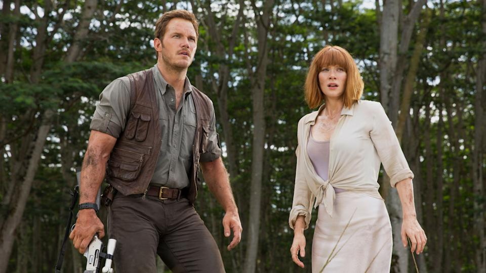 Chris Pratt and Bryce Dallas Howard are the stars of the 'Jurassic World' franchise. (Credit: Universal Pictures)