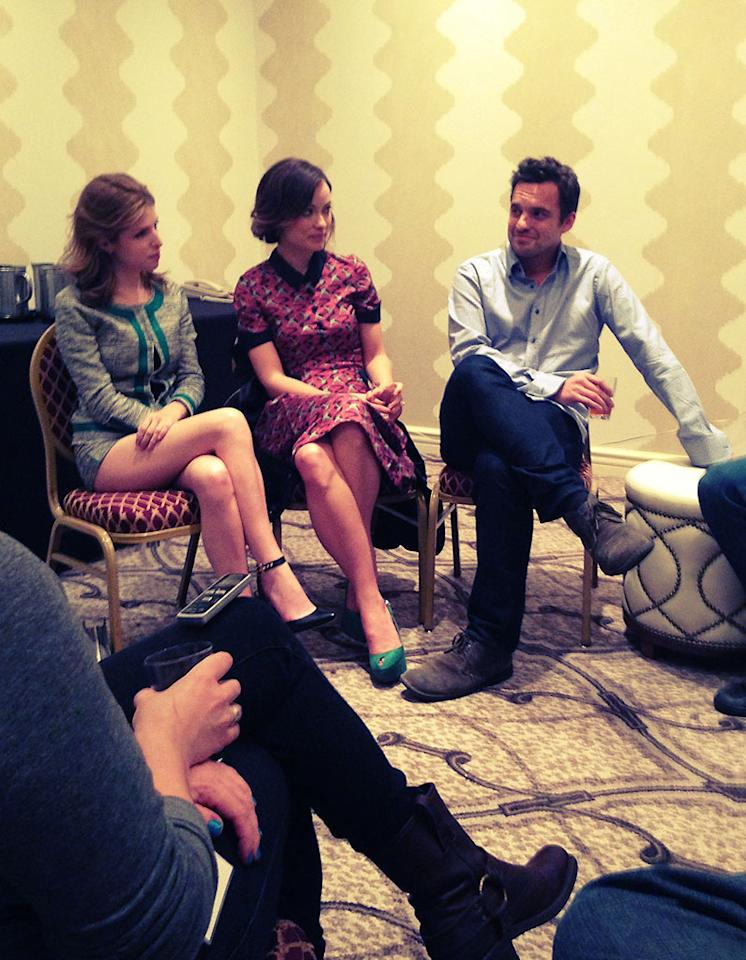 Anna Kendrick, Olivia Wilde, and Jake Johnson from Drinking Buddies #sxsw